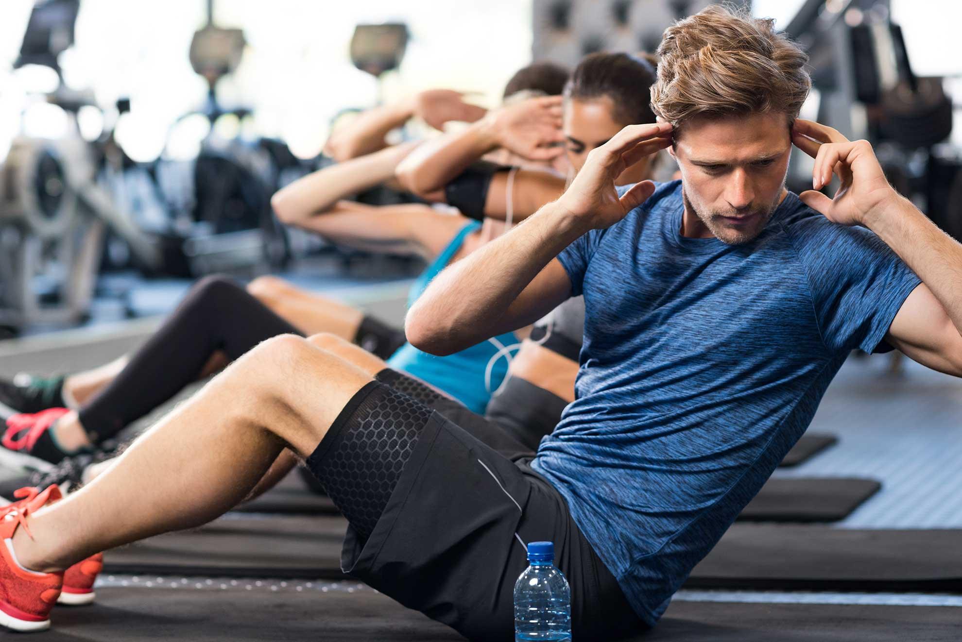 Muskulatur aufbauen Mann
